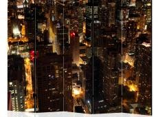 Paraván - City by night - Chicago, USA II [Room Dividers]